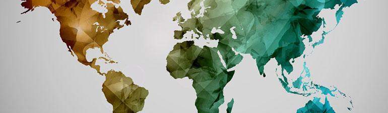 carte gps par pays et continent
