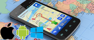 GPS pour iphone android windows phone et sony psp