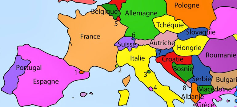 carte gps europe du sud