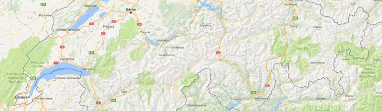 carte gps randonnée Suisse