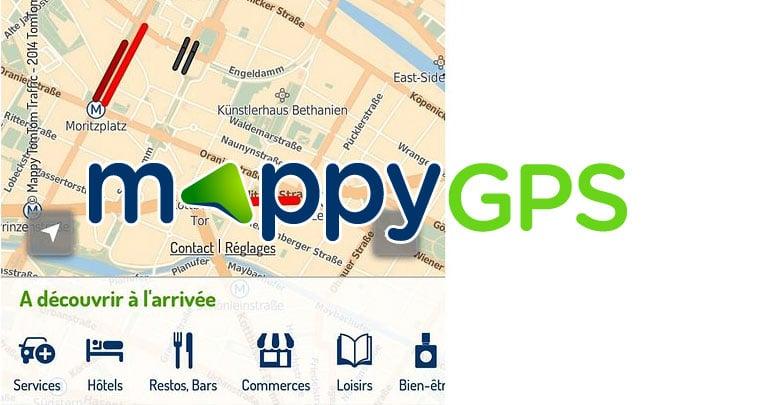Mappy GPS gratuit avec des estimations de coût du trajet